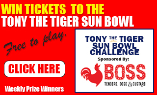Tony the Tiger Sun Bowl Challenge presented by Boss Chicken