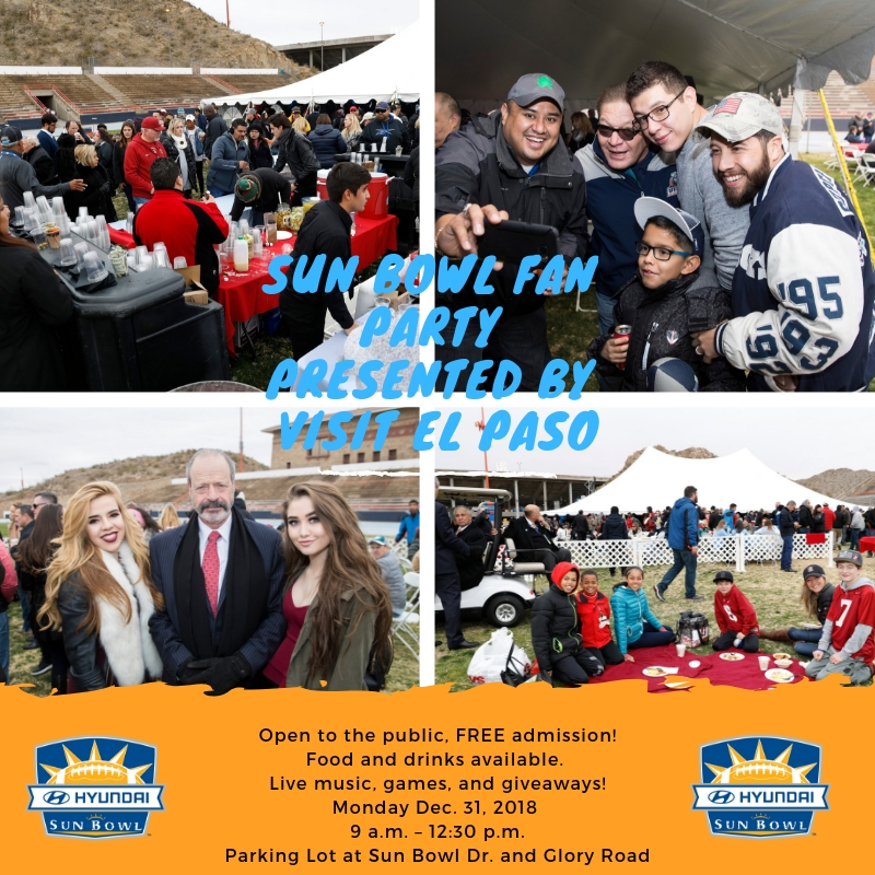 THE HYUNDAI SUN BOWL ANNOUNCES MUSICAL PERFORMANCES FOR THE HYUNDAI SUN BOWL FAN FIESTA PRESENTED BY EL PASO LIVE AND SUN BOWL PREGAME FAN PARTY PRESENTED BY VISIT EL PASO