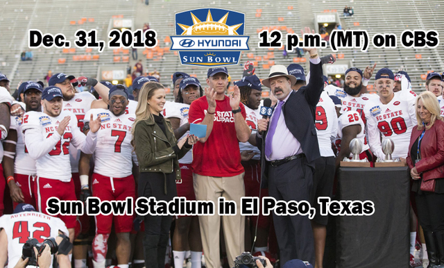 85TH HYUNDAI SUN BOWL TO KICKOFF AT NOON (MT) ON NEW YEAR'S EVE