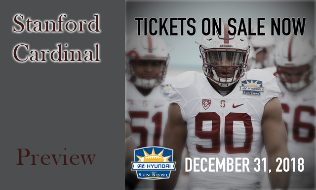 STANFORD TO MAKE BORDERLAND RETURN FOR 85TH HYUNDAI SUN BOWL