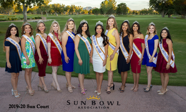 SUN BOWL ASSOCIATION ANNOUNCES 2019-20 SUN COURT