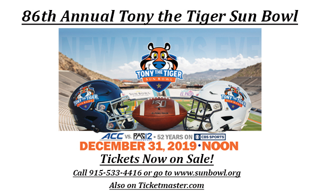 Tony the Tiger Sun Bowl Tickets Now On-Sale