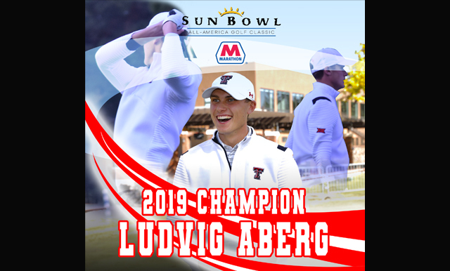 LUDVIG ABERG HOLDS LEAD FROM START TO FINISH AT THE  SUN BOWL MARATHON ALL-AMERICA GOLF CLASSIC