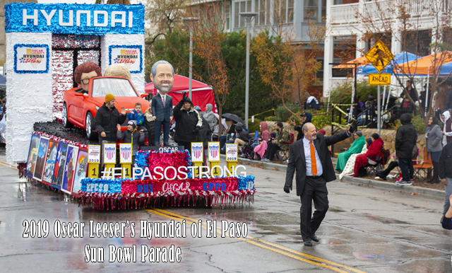 INCLIMENT WEATHER WOULD NOT STOP THE PEOPLE OF EL PASO FROM ATTENDING THE OSCAR LEESER'S HYUNDAI OF EL PASO SUN BOWL PARADE