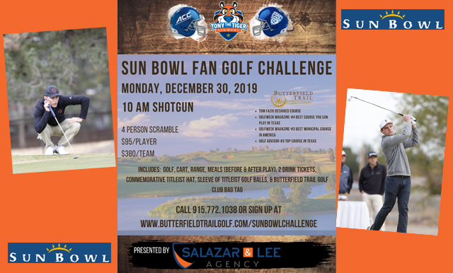 SIGN UP FOR THE SIXTH ANNUAL SUN BOWL FAN GOLF CHALLENGE