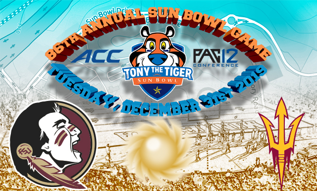 FLORIDA STATE TO FACE OFF AGAINST ARIZONA STATE IN THE  86TH ANNUAL TONY THE TIGER SUN BOWL ON DEC. 31, 2019