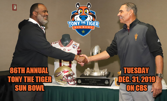 86TH ANNUAL TONY THE TIGER SUN BOWL – GAME PREVIEW