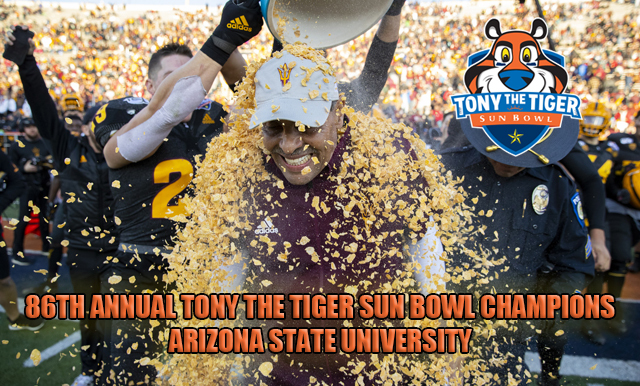 ARIZONA STATE TAKES ADVANTAGE OF TURN OVERS TO DEFEAT THE SEMINOLES IN THE 86TH ANNUAL TONY THE TIGER SUN BOWL