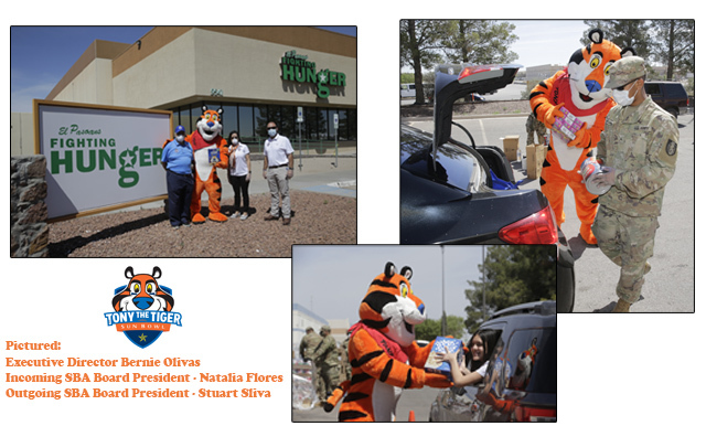 TONY THE TIGER HELPS TO BRING SMILES AT EL PASOANS FIGHTING HUNGER CENTER