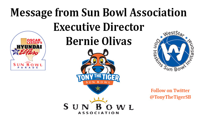SUN BOWL ASSOCIATION IS PLANNING FOR EVENTS AS OF SEPT. 23, 2020