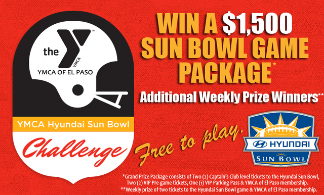 Play YMCA Hyundai Sun Bowl Challenge to Win Game Package