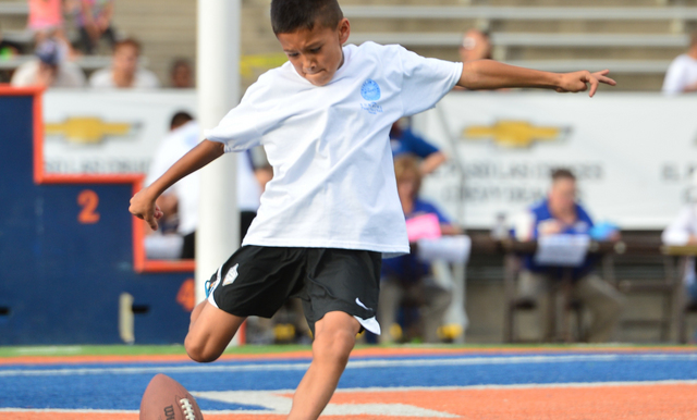 Winners from the Price's Creameries Sun Bowl Punt, Pass and Kick Presented by the City of El Paso Parks and Recreation