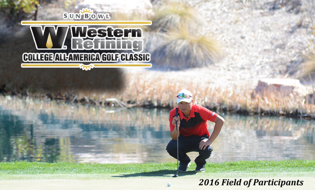 42nd Annual Sun Bowl Western Refining College All-America Golf Classic Field Set